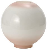"9"" Pink Tint Ball Glass Lamp Shade 4"" Fitter"