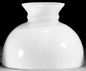 "Satin White Hurricane Glass Lamp Shade 10"" Fitter"