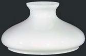 "White Tam O Shanter Hurricane Glass Shade 12"" Fitter"