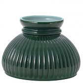 "Green Hurricane Glass Lamp Shade 6"" Fitter"