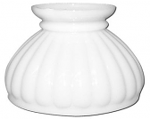 "White Hurricane Glass Lamp Shade 6"" Fitter"