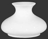 "Flat Top White Hurricane Glass Shade 7"" Fitter"