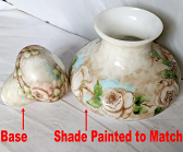 Glass Shade Painted To Match Small Glass Base