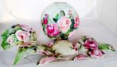 Ball Glass Shade Hand Painted Using Broken Fragments