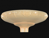 "Gold Embossed Glass Funnel Torchiere Shade 16""W"