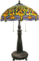 "Golden Dragonfly Tiffany Lamp 26""H - Sale !"