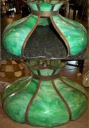 Large Green Handel Slag Lampshade Repair