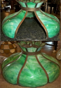 Large Green Handel Slag Lampshade Repair