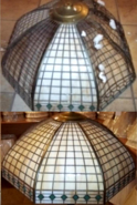 Handel Lattice Motif Slag Lamp Shade Repair