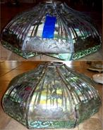 Handel Tropical Slag Lamp Shade Repair
