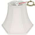 "Hexagon Bell Silk UNO Shade Cream, White 10-12""W"