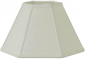 "Hexagon Chimney Shade For Hurricane Lamps 12""W"