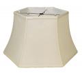 """Hexagon Bell Silk 6 Way Floor Lamp Shade Cream, White 19""""W"""