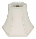 "Hexagon Silk Lamp Shade Cream, White, Black 5-18""W"