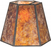 "Hexagon Mica Lamp Shade 8-16""W - Sale !"