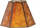 "Hexagon Mica Lamp Shade 12-18""W"