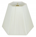 "Hexagon Silk String Lamp Shade Off White 14-20""W"