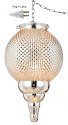 "Golden Hobnail Glass Plug In Pendant Light Swag Lamp 8""Wx16.5""H"