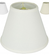 "Trimmed Edge Empire Homespun Linen Lamp Shade Cream, Off White, Beige 8-20""W"