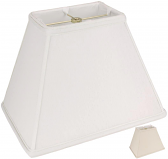 "Tapered Rectangle Linen Lamp Shade Off White, Beige 12-18""W"