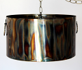 "Industrial Metal Drum Swag Pendant Light 16""-20""W"