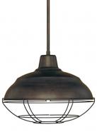 "Neo Industrial Rubbed Bronze Pendant Light 17""Wx51""H"