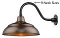 "Genuine Copper Wall Light Indoor-Outdoor 14-17""W"