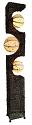 "Iron Nito Vine Paper Orbs Floor Lamp 72""Hx11""Wx8""D #709"