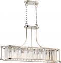 """Krys Polished Nickel Crystal Island Light Vintage Bulbs 37""""Wx23""""H"""