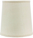 "Ivory Burlap Drum Lamp Shade 12""W"
