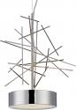 "Jax Sticks Nickel Drum Shade LED Pendant Light 18""Wx14""H"