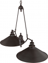 "Bridgeview ORB Bronze Metal Shade Island Light 40""Wx28""H"