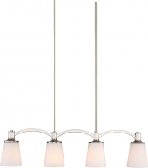 "Laguna Brushed Nickel Island Light White Glass 33""Wx46""H"