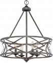 "Lakewood Antique Silver Iron Drum Pendant Light 21""Wx26""H"