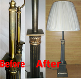 Refinish Antique Brass Lamps