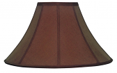 "Chocolate Brown Coolie Lamp Shade 16-22""W - Sale !"