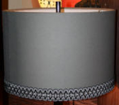 Custom Gray Drum Lamp Shade