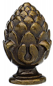 "Antique Brass Pineapple Lamp Shade Finial 1.4""H"