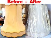 Silk Lamp Shade Recover