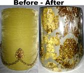 Vintage Hollywood Regency Velvet Lamp Shade Recover