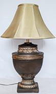 "Large Bronze Lamp 30""H Sale !"