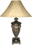 "Large Bronze Vintage Lamp 32""H"