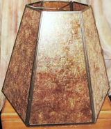 Large Hexagon Mica Lamp Shade