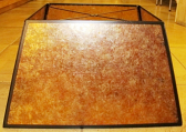 "Large Square Amber Mica Lamp Shade 4-96""W"