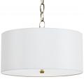 """Large Cream or White Drum Pendant Light 20-24""""W"""
