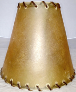 "Rustic Leather Lamp Shade 6-10""W - 3 Fitter Options"