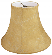 "Bell Leather Look Lamp Shade 8-18""W"
