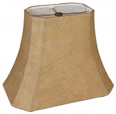 "Rectangle Cut Corner Leather Look Lamp Shade 12-18""W"