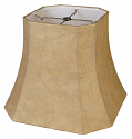 "Square Leather Look Lamp Shade 10-18""W"