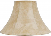 "Leather Look Bell Lamp Shade 12.5""W - Sale !"